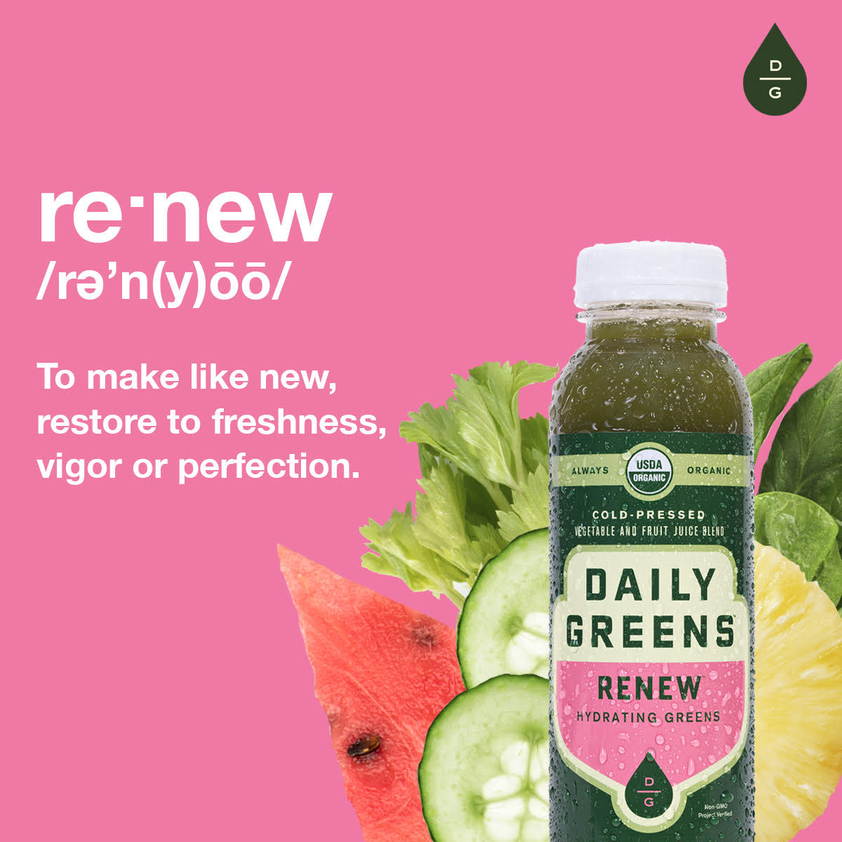 Daily Greens Cold-Pressed Organic Juice