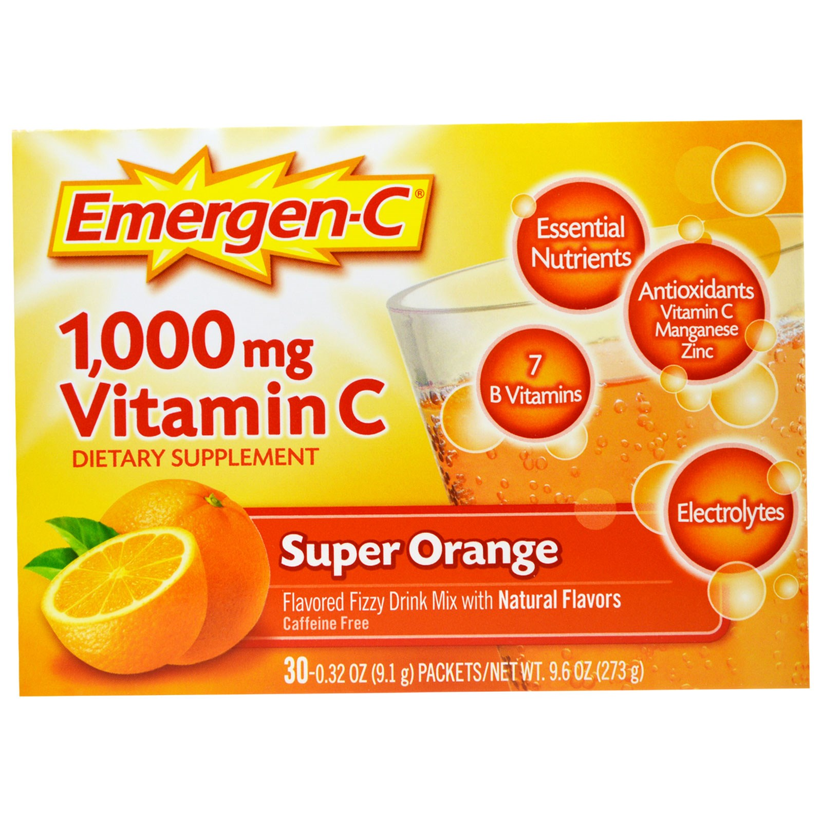 Emergen-C Super Orange Dietary Supplement